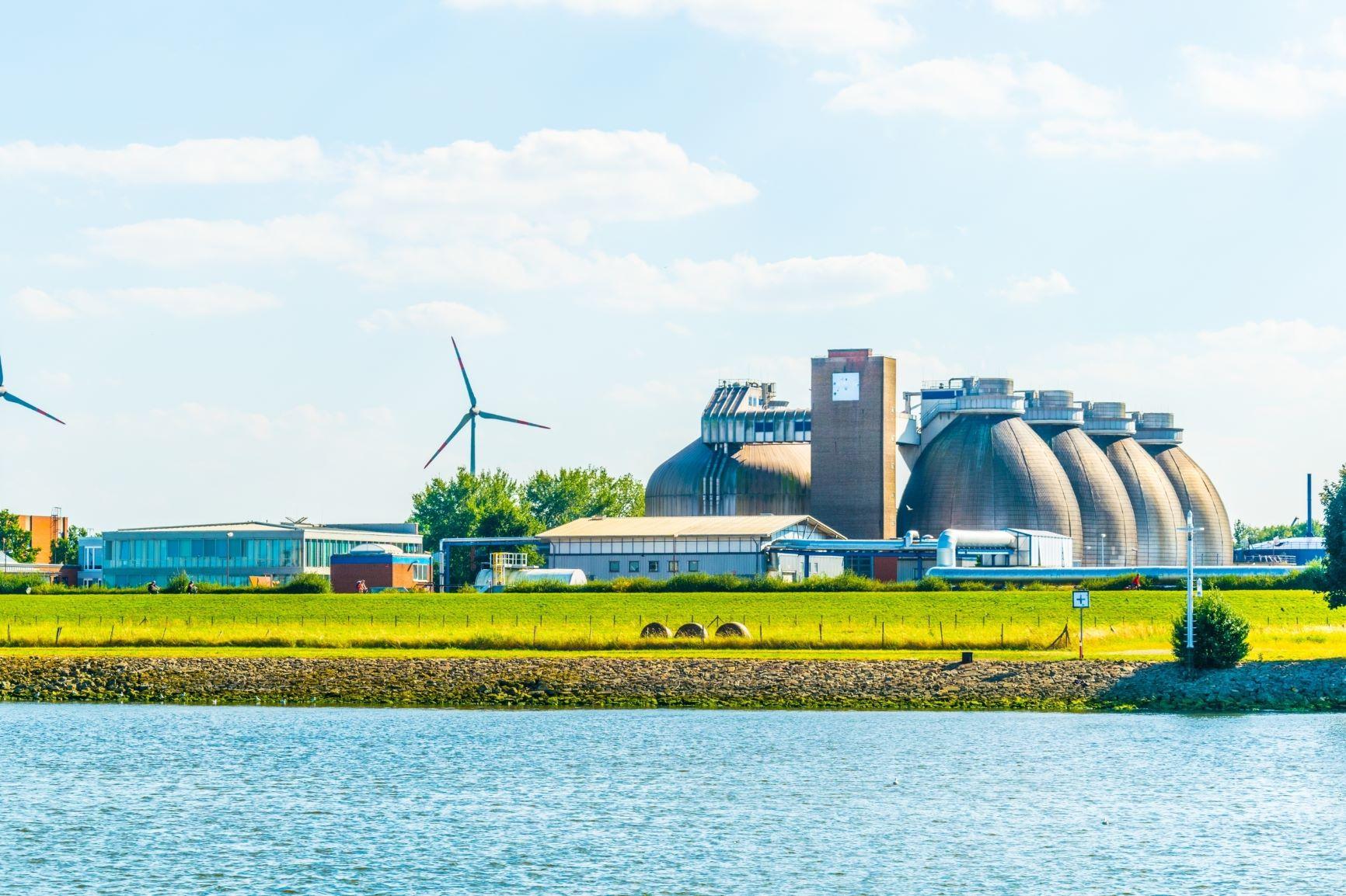 Modern Biogáz üzem Bremen Németország